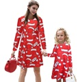 New Family Christmas Clothing For Mom And Daughter Dress Family Look 2016 Christmas Dress For Mum And Daughter Outfits