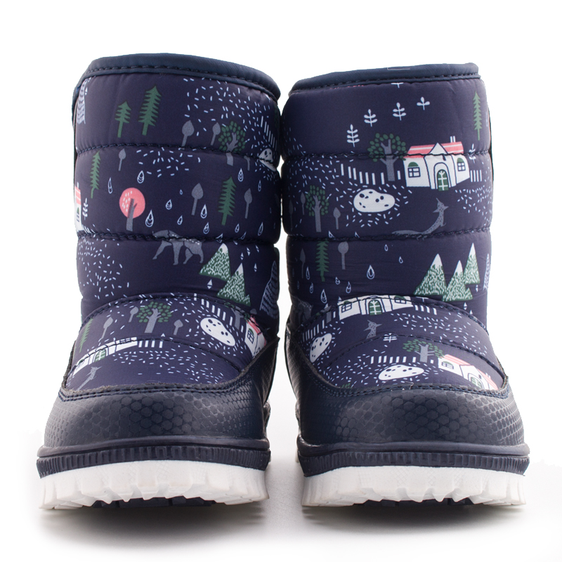 SKHEK-Winter-Children-Round-Toe-Snow-Boots-For-Girls-Boys-Flat-With-Ankle-Kids-Rubber-Boots-Unisex-Cotton-Fabric-Shoes-1