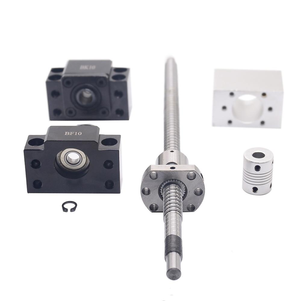 SFU1204 set: SFU1204 tornillo de bola laminado C7 con end mecanizada + 1204 tuerca de la bola + tuerca + BK/BF10 final soporte + acoplador RM1204 - 4