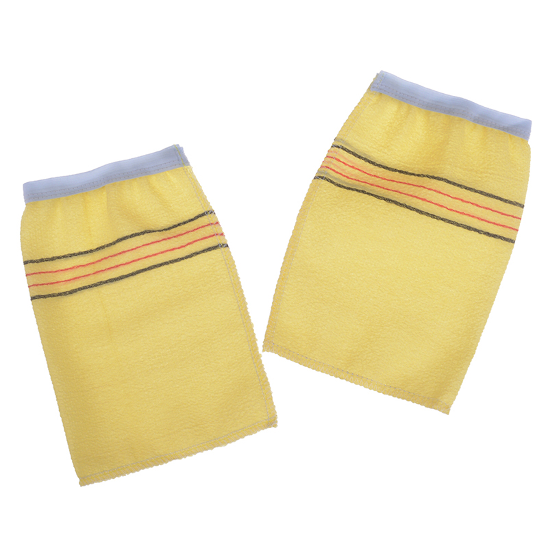 2Pcs/Set  Exfoliating Gloves Exfoliating Bath Gloves Body Scrubbing Shower Body Massage Sponge Moisturizing Skin Disposable