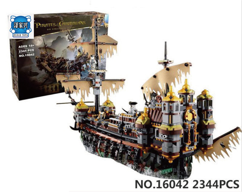 Pirate Ship Metal Beard's Sea Cow Model Building Kits Blocks Bricks Figures Toys Compatible with LEPIN 16042 70810 lepin 22001 pirate ship imperial warships model building block briks toys gift 1717pcs compatible legoed 10210