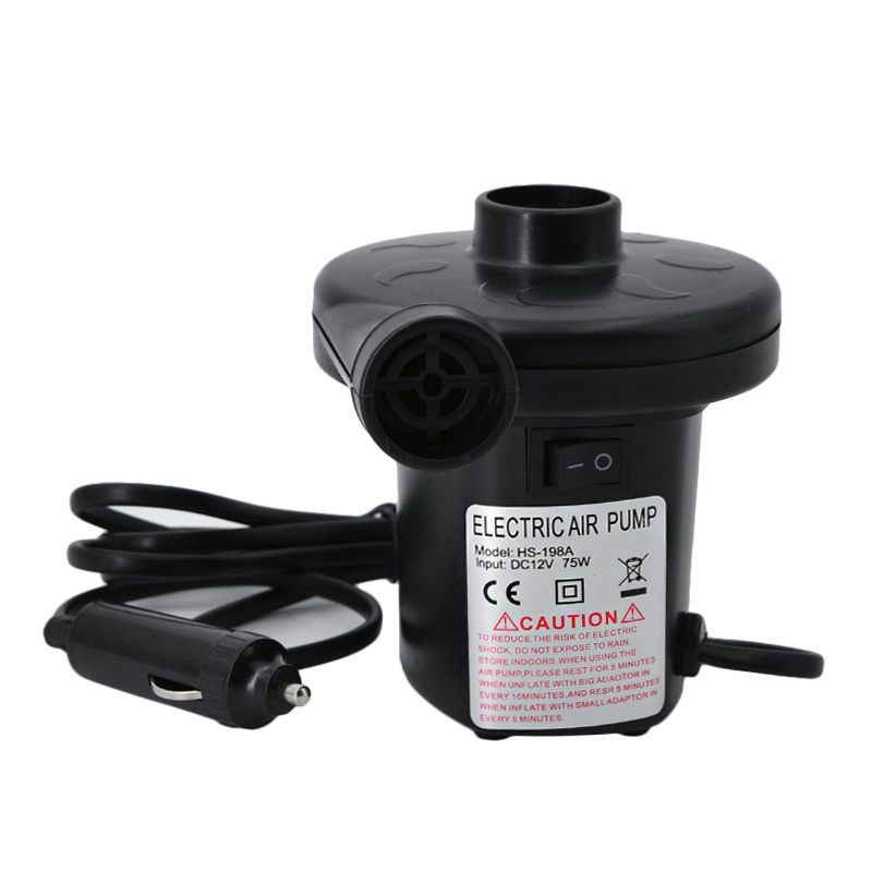 12V Car Auto 3 Nozzles inflatable boat Air suction Pump gas-fill Air compressor Electric Air Pump for Swimming ring airbed boat