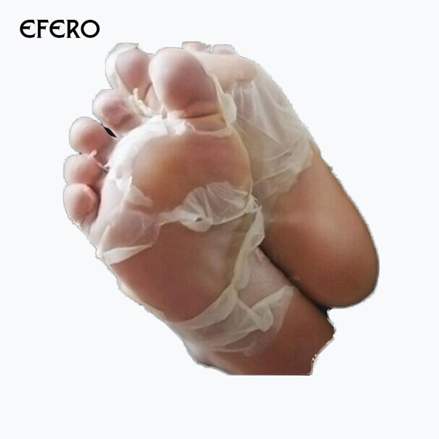 efero 3 pair feet mask socks for peeling dead skin cuticles removal