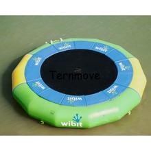 Надувные плавающей платформе батут прыжки кровать плавающие игрушки воды гимнастика, батут воды вышибала надувной батут