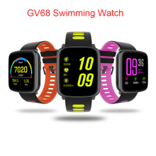 GV68 Smart Watch IP68 Waterproof for Swimming Smartwatch Heart Rate Monitor with Replaceable Straps for IOS Android Phone
