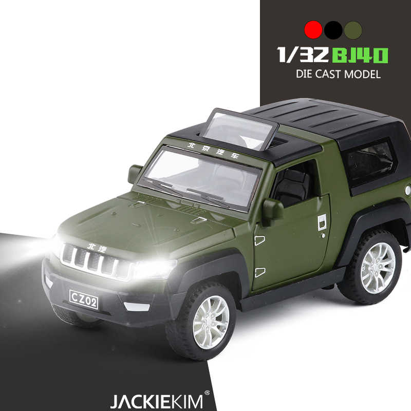 1:32 Beijing JEEP Metal Toy Alloy Car Diecasts & Toy Vehicles Car Model Wolf Warriors Model Car Toys For Kids Gifts
