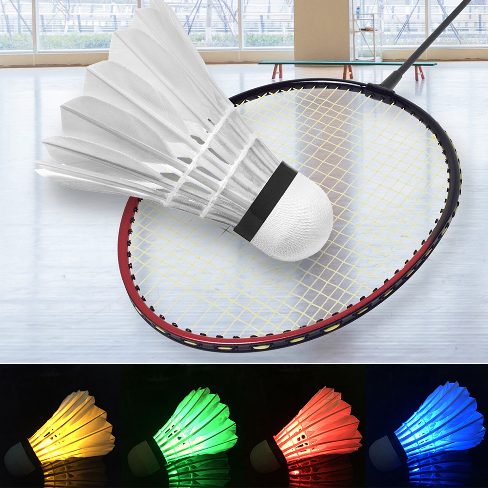 4 Pcs/set LED Light Badminton Installed Shuttlecock Badminton Indoor/Outdoor  Durable Night Glow Lightweight Sports Supplies
