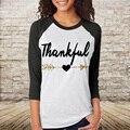 T Shirt Tops de Moda Meninas Confortável Fit Emenda Casual Top Tee Carta Impresso Manga Três Quartos Camisetas Mujer S/M/L/XL