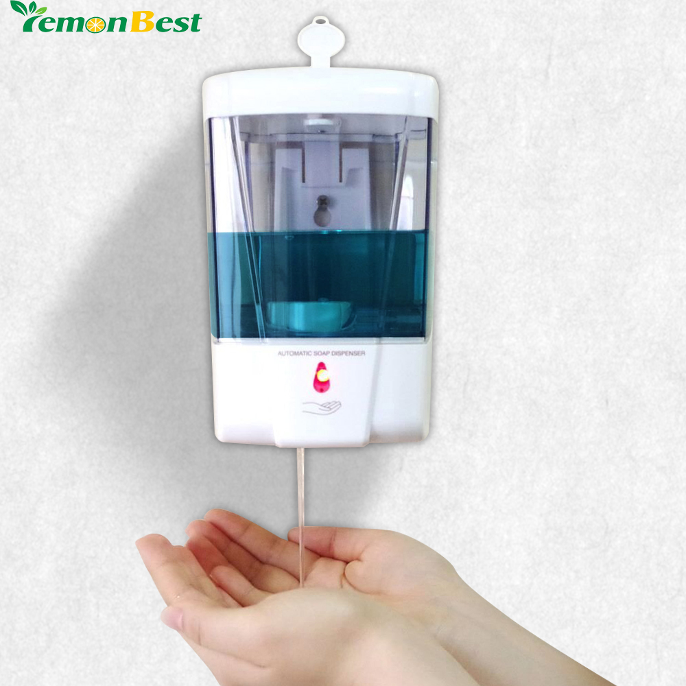 Soap dispenser battery powered 600ml wall mount automatic - Bathroom soap and lotion dispenser set ...
