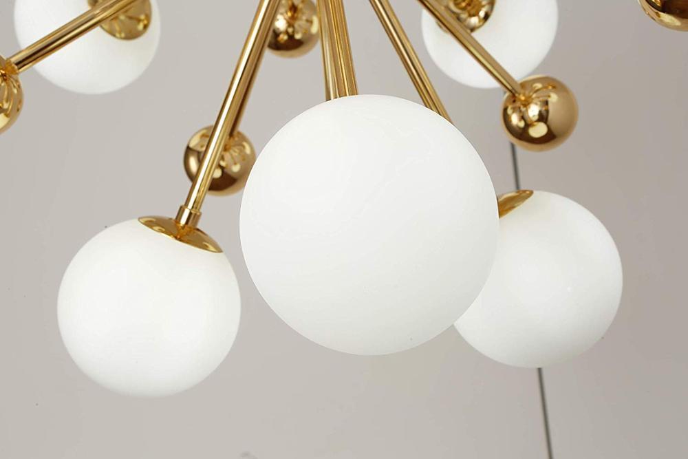 Glass Led Lamp Modern Design Chandelier Ceiling Living Room Bedroom Dining Room Light Fixtures Decor Home Lighting G4 12 Lights