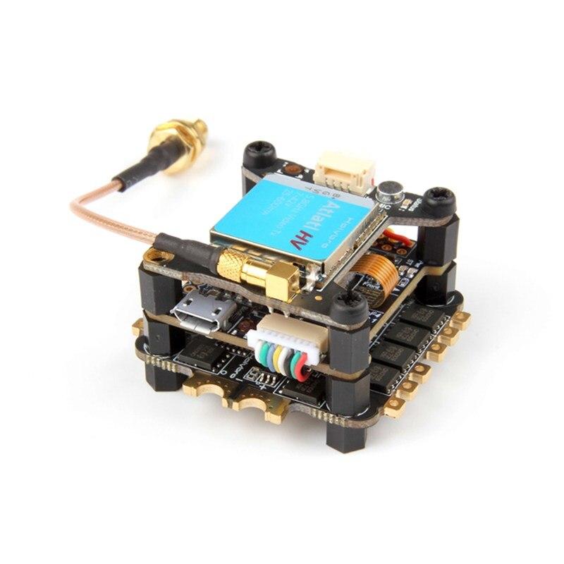 Holybro TekkoS 4 dans 1 30A BLHeli_S ESC + Kakute F4 V2 Contrôleur de Vol + Atlatl HV 5.8g 40CH VTX pour RC Modèles FPV Drone