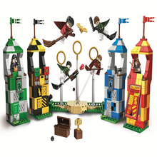 BELA 11004 536pcs Harry Potter Movie Magic Quidditch Match Model Compatible with Legoings Figures 75956 Brick Toys for Children
