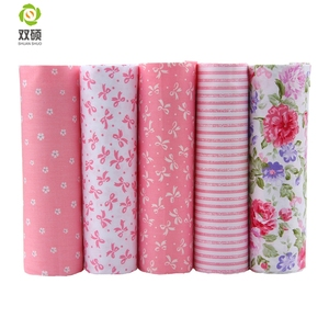 2016 Hot 5 Different Colors Pink Floral Cotton Fabric Patchwork Textile Sewing Fabric For Doll Clothes Bags 40*50 cm A2-5-10(Hong Kong,China)