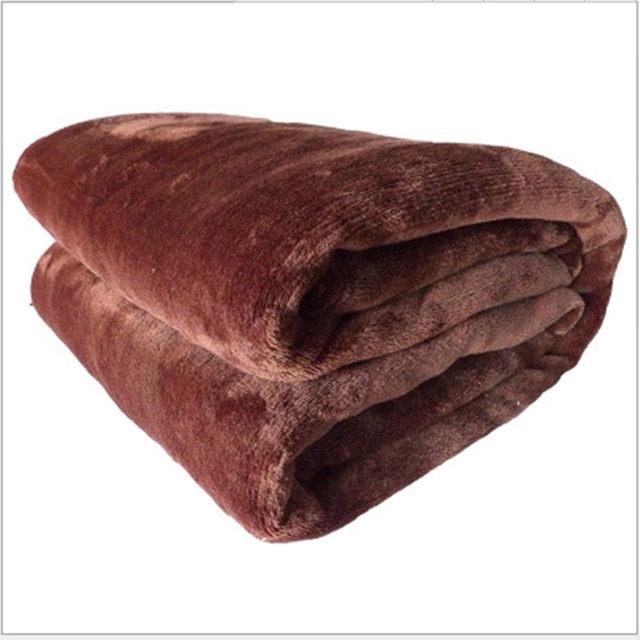 online shop home textile blanket summer solid color super warm soft