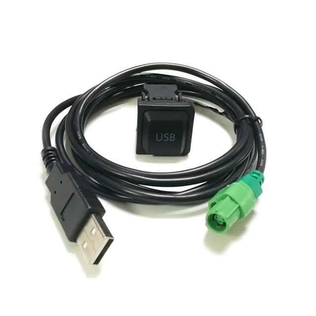 Botão interruptor carro USB adaptador de cabo USB para RCD510 RCD310 CD player de rádio para VW Touran Bora Sagitar para Skoda octavia Fabia