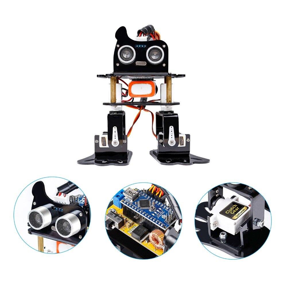 Kit Robot bricolage 4-dof-Kit d'apprentissage paresseux Kit Robot de danse Programmable pour jouet électronique - 3