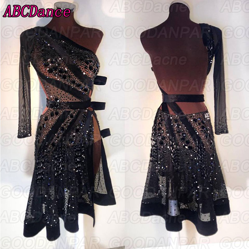 Latin Dance Dress Women Sexy Dress For The Dance Black Halter Dress For Ballroom Dancing Tango Dress 라틴댄스복 юбка латина