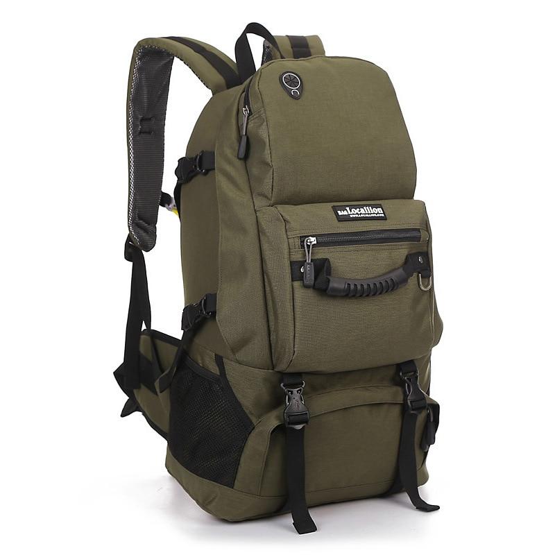 LOCAL LION Outdoor Waterproof Hiking Backpack 40L Mountaineering men Camping Travel Bag Trekking Climbing Bag Rucksack nylon600D