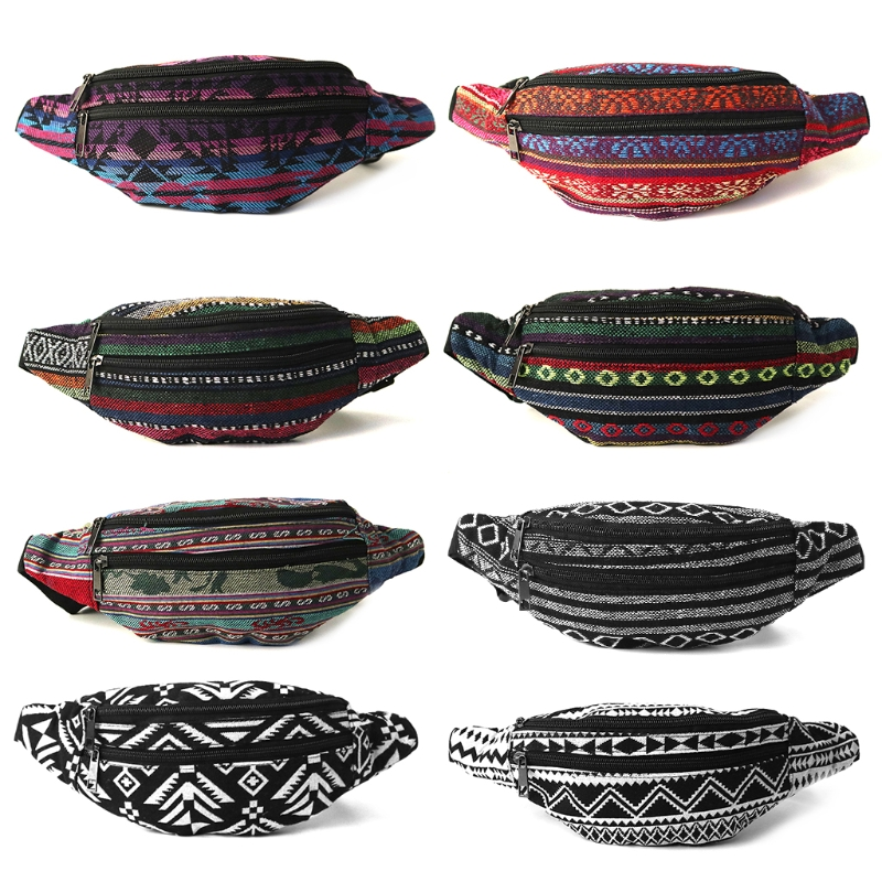 2018 Festival Fanny Pack for Women and Men Boho Style Cute Tribal Waist Bag Casual Travel Zipper Waist Packs For Women ethnic style tribal print elastic waist skirt for women
