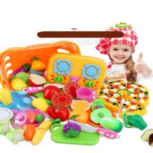 New Children Kitchen Toys Cutting Fruit Vegetable Food Miniature Play Do House Education Toy Gifts for Girls Kids Pretend Play(China)