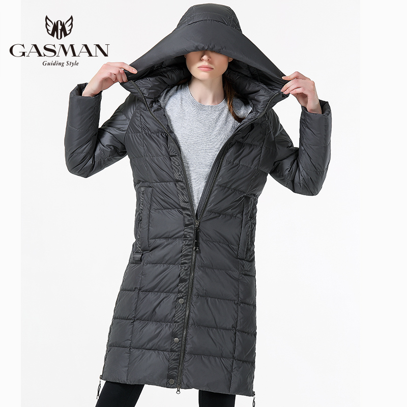 2017 Winter Womens Down Jacket Long Thick Warm Female Parka Fashion Hooded Windproof Coat For Women Plus Size 5XL 6XL fashionable thick hooded pleated down coat for women