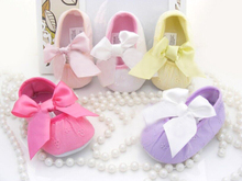 Soft Soled Girls baby Shoes  Fashion Baby Girl Shoes Butterfly-knot First Sole Christening Baptism Shoes