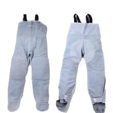 חשמלי ריתוך עור פרה מגן בגדי גבוהה טמפרטורת עור ריתוך מכנסיים אנטי להבת הוכחה בטיחות ריתוך סרבל