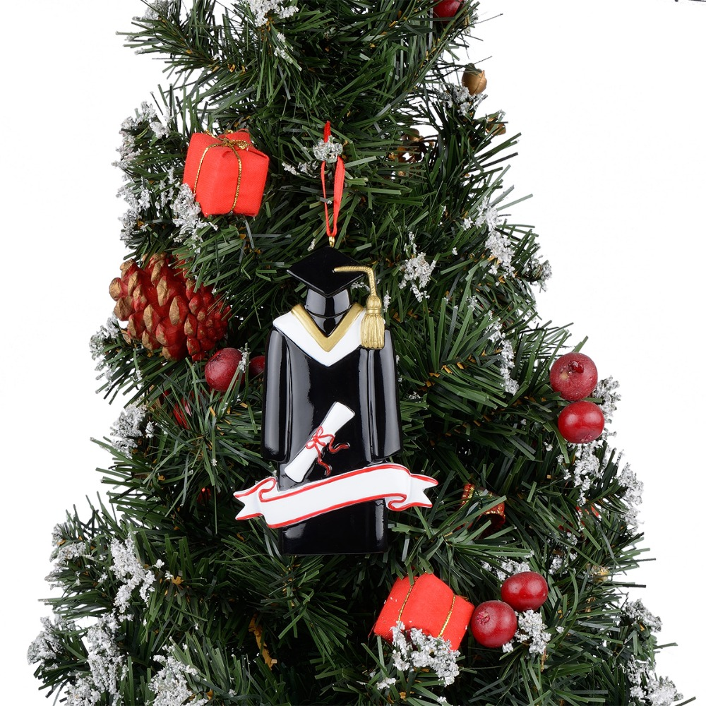 Resin Glossy Graduate Personalized Christmas Ornaments Used For ...