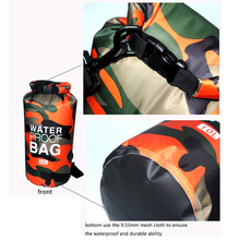 2/5/10/15L Outdoor Camouflage Waterproof Dry Bags Portable Rafting Diving Dry Bag Sack PVC Swimming Bags for River Trekking