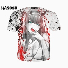 LIASOSO New Anime DARLING in the FRANXX Tees 3D Print t shir