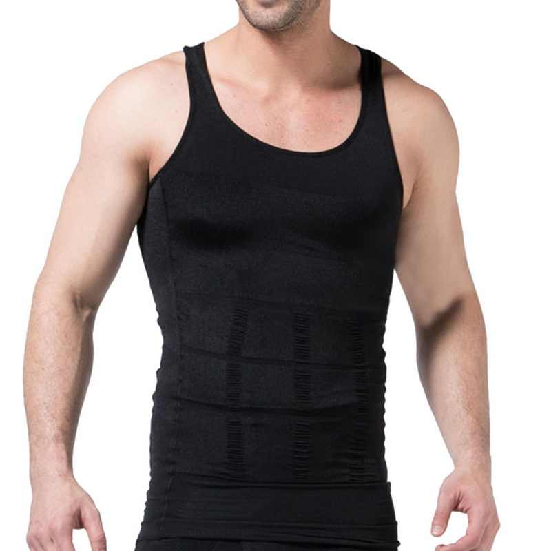 Slimming Vest Men's Jogging Underwear Body Shaper Waist Cincher Corset Shaper Vest Fitness Body Tummy Belly Body Clothes Male