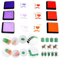20pcs Set Kids DIY Craft Finger Print Ink Pad Inkpad Colorful Rubber Stamps Inkpads Ink Pads