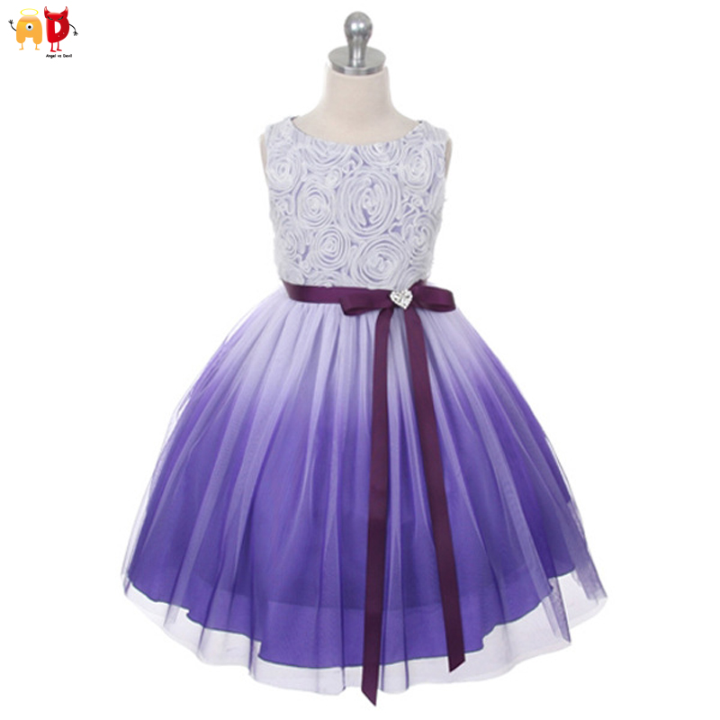 AD Girls Party Pageant Dress Kids Evening Dancing Ballerina Wedding Dresses Formal Prom Pageant Clothes for Children Princess girls dress 2017 new summer flower kids party dresses for wedding children s princess girl evening prom toddler beading clothes