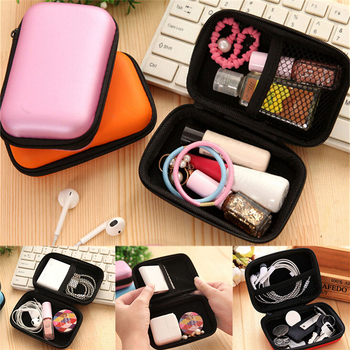 New Hot Selling Square Earphone Storage Bag Carrying Case for Earphone Headphone Earbuds Pouches 6 Colors 12 x 8 x 4cm