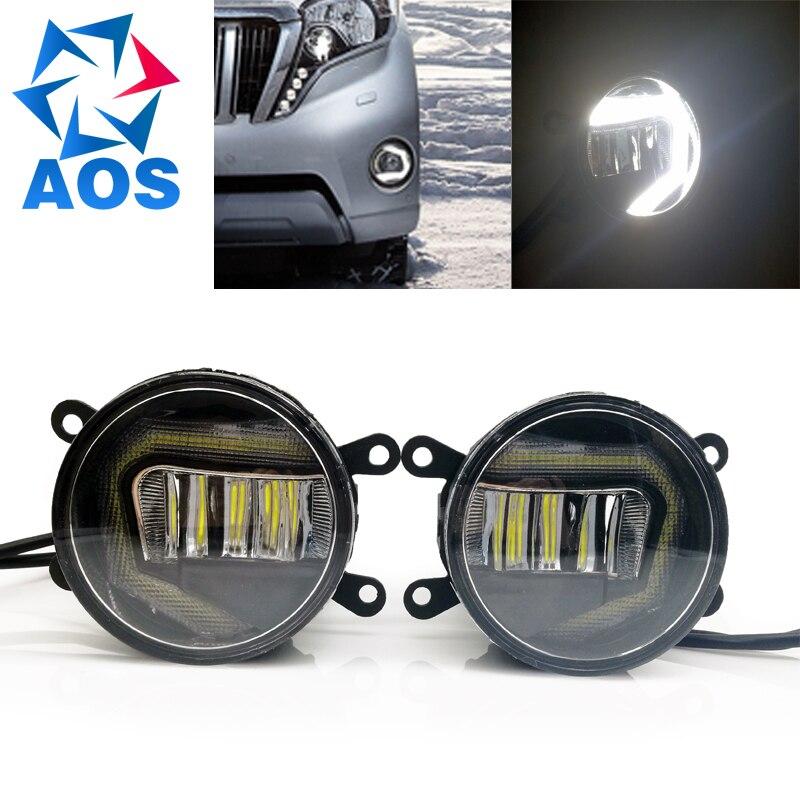 2PCS Car Styling LED DRL super bright Fog lights fog lamp Car Daytime Running Lights for Toyota Corolla Nissan Sentra Opel corsa