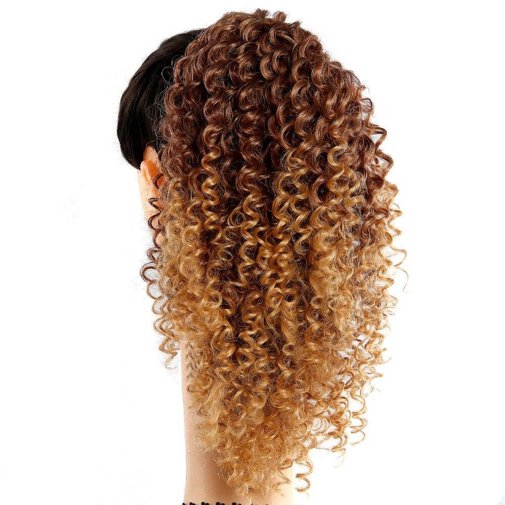 Cordão puff afro kinky curly rabo de