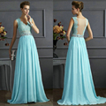 2016 Summer Tunic Mesh Chiffon Patchwork Long Dress Backless Lace Sleeveless V-Neck Sexy Women Elegant Evening Party Dresses