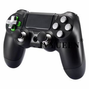 Image 2 - IVYUEEN Magnetic Metal Bullet Buttons for Dualshock 4 Playstation 4 PS4 Pro Slim Controller Thumbsticks Grips D pad Accessories