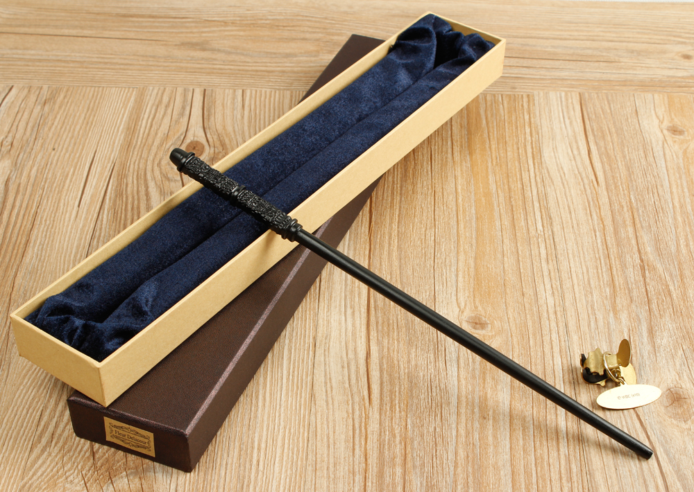 Neueste Qualität Robuste Deluxe Metall Core COS HP Severus Snape Zauberstäbe/Stick mit Geschenk Box Verpackung