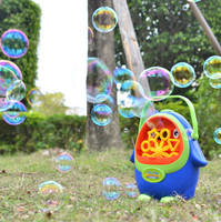Outdoor automatic bubble machine toy for boys portable blowing bubbles electric toys