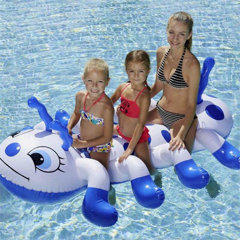 Jouet gonflable d'été de natation de Ride-ons de Caterpillar pour des radeaux adultes de piscine nageant des jouets gonflables pour l'adulte d'enfants