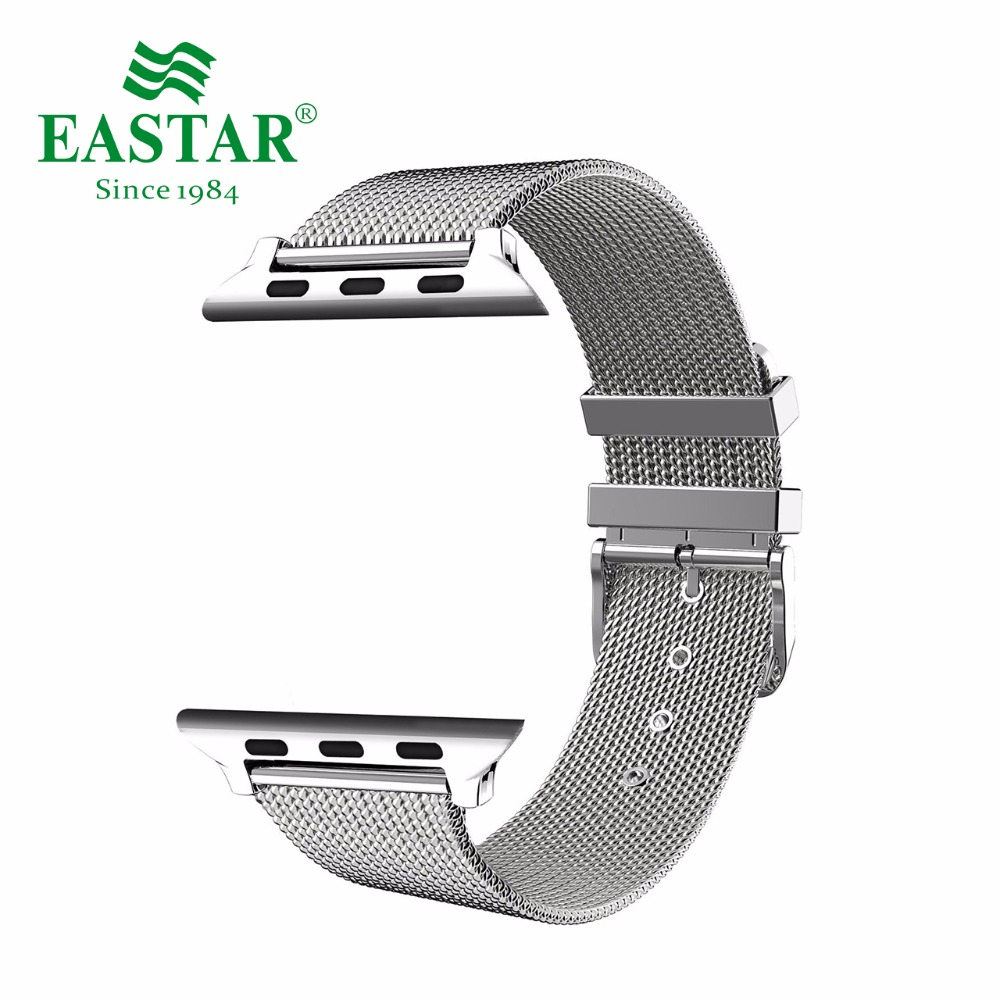 Eastar Milanese Loop Stainless Steel Watchband for Apple Watch Series 3/2/1 Classic Buckle 42 mm 38 mm Strap For iwatch Band eastar milanese loop stainless steel watchband for apple watch series 3 2 1 double buckle 42 mm 38 mm strap for iwatch band