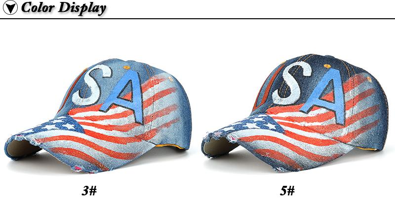 """USA"" Flag Screen Print Dad Hat - Color Options"