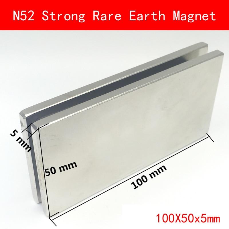 1PCS sheet 100x50x5mm N52 Super Strong Rare Earth Magnet Permanent N52 NdFeB Magnets 100*50*5MM 1pcs sheet 100x50x5mm n52 super strong rare earth magnet permanent n52 ndfeb magnets 100 50 5mm