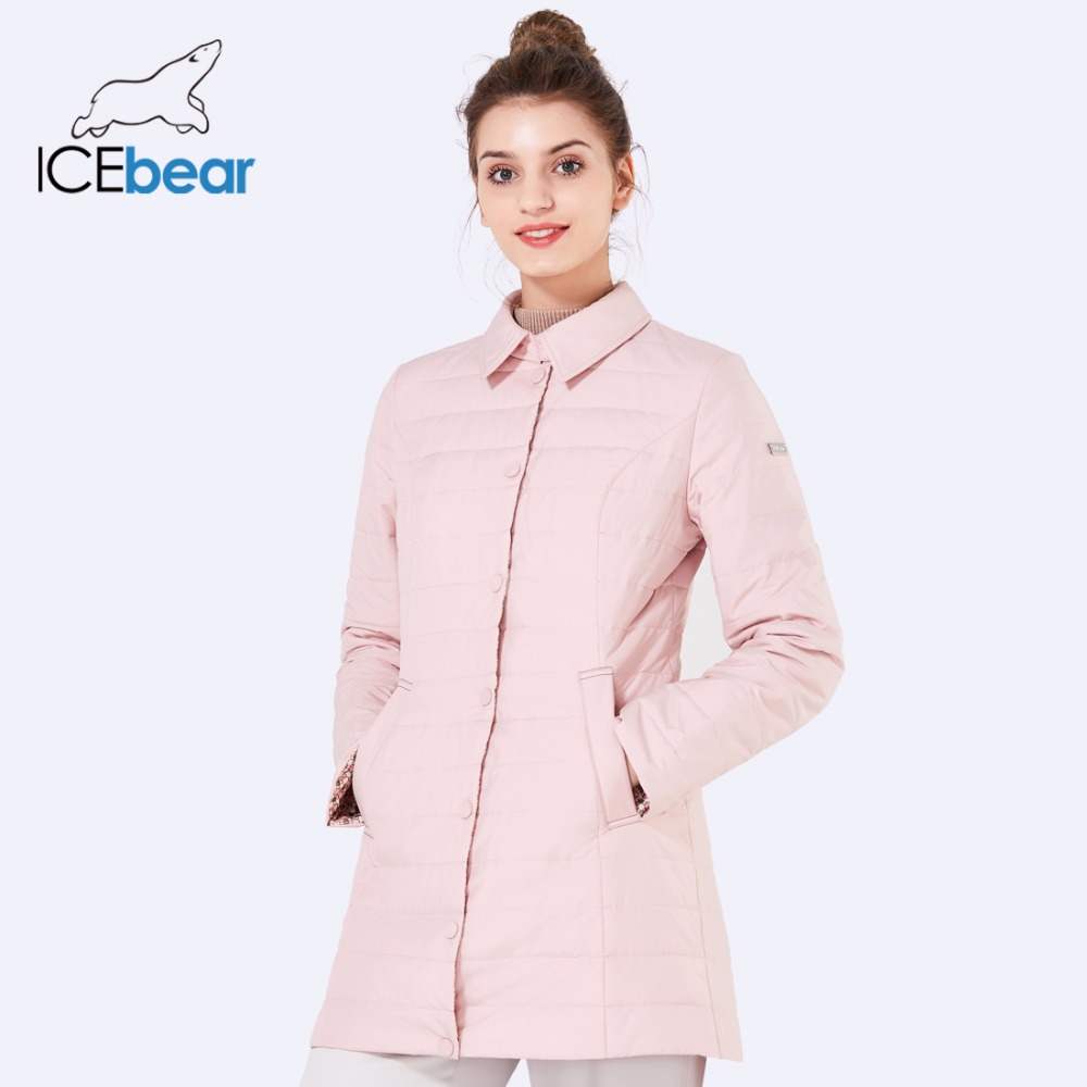 ICEbear 2018 new shirt collar spring women coat fashion women coats autumn jacket brand windproof clothing GWC18083D