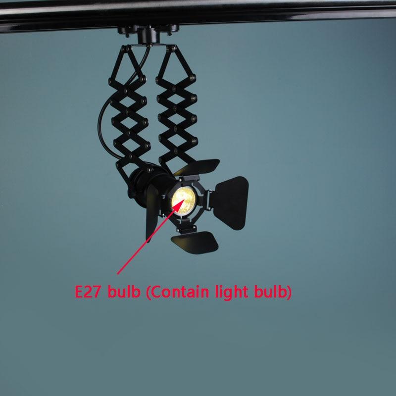 Retro Mini lâmpada Industrial lâmpada de Parede Base Da Lâmpada E27 4 Luz amp Ajustável Folha Luminária para Bar café Casa luzes - 4