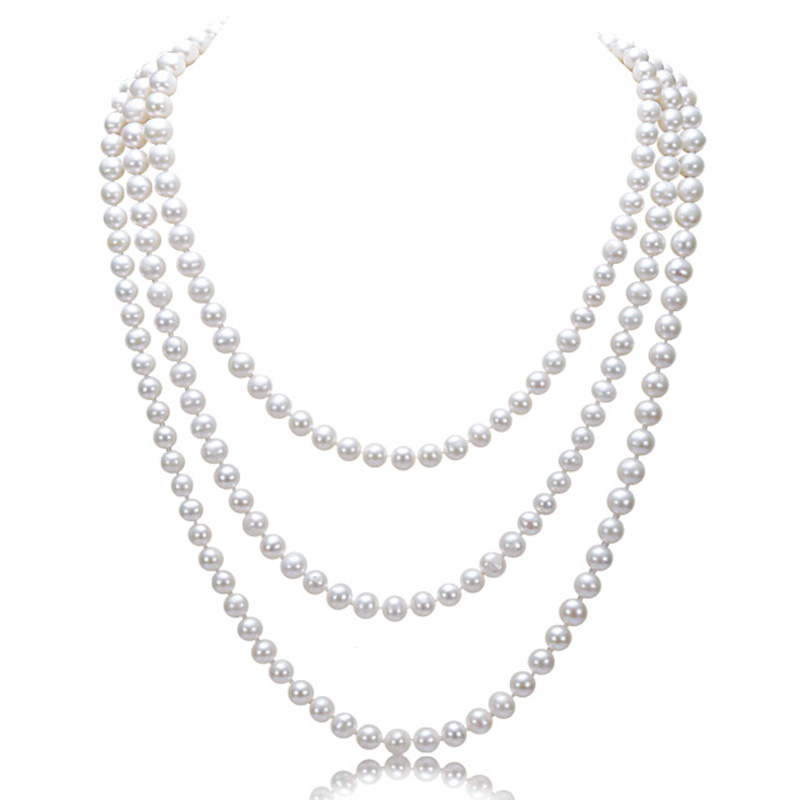 Eternal wedding Women necklace word 925 silver 925 silver natural big Cano Cindy Bright Multi shape near garden in Bridal Jewelry Sets from Jewelry Accessories