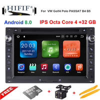 IPS Android 8.0 Octa core 2 Din Car GPS Navigation DVD Player for Volkswagen VW PASSAT B5 JETTA BORA GOLF 4 SHARAN Radio