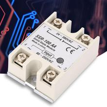 Solid State Relay Single Phase Solid State Relay Module SSR-100AA Input 80-250Vac Output 24-380Vac Relay Board Module