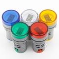 1 stücke 22MM AC 60 500V LED Voltmeter spannung meter anzeige pilot licht Rot Gelb Grün weiß blau|Kontrollleuchten|Licht & Beleuchtung -